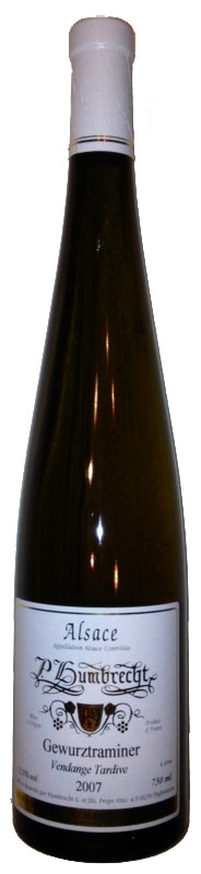 Gewurztraminer Vendanges Tardives 2007